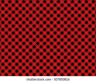Diagonal tablecloth background red black