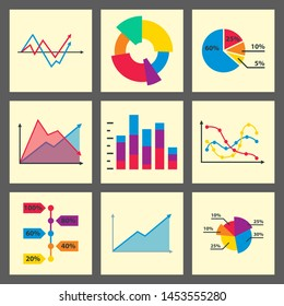 Diagram chart graph elements business infographic flow sheet data template arrows and circle progress diagrammatic report