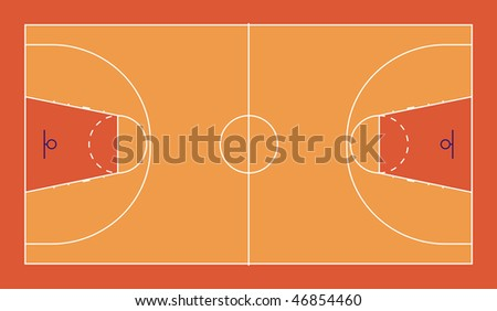 Diagram Fiba Standard Basketball Court Stock Illustration 46854460