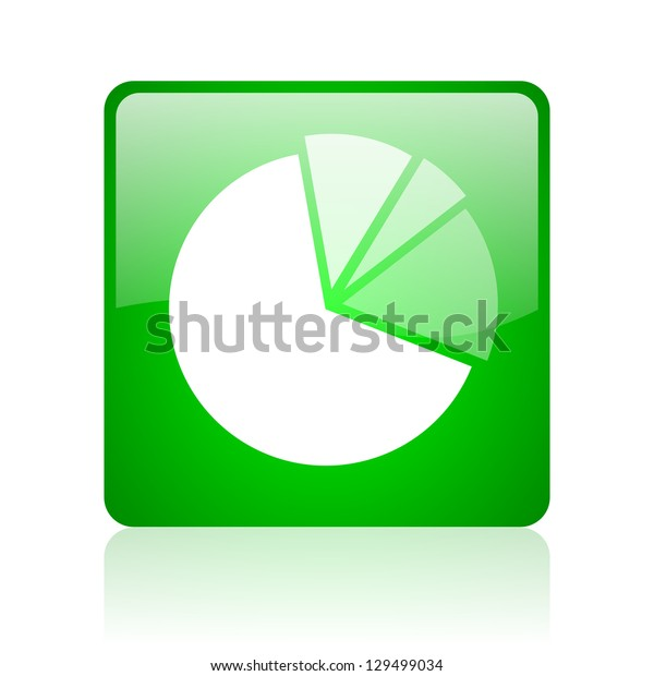 diagram green square web icon on white background