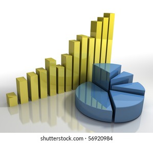 Diagram Pie Chart and Bar Charts Business Concept modern abstract corporate financial concept background