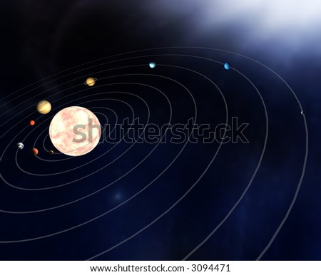 Diagram Planets Solar System Stock Illustration 3094471 Shutterstock