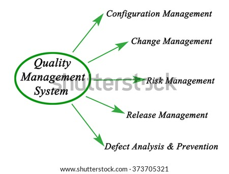 Diagram Quality Management System Stock Illustration 373705321