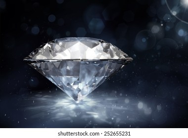 diamond on dark background
