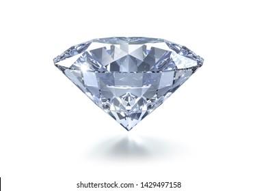 Diamond on a white background - 3D illustration