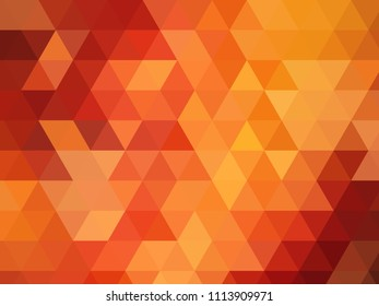 diamond pattern modern low poly orange background with triangular shapes in multiple shades