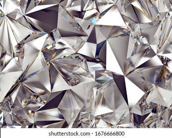 diamond pattern polygonal refraction of light
