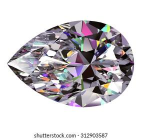 Diamond Pear. 3D Model.