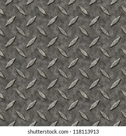 A diamond plate bumped metal texture that tiles seamlessly as a pattern in any direction.