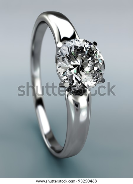Diamond Ring Wedding Gift Isolated Close Backgrounds Textures