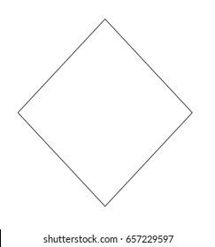 diamond shape square icon template stock illustration 657229597