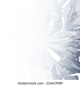 Diamond texture close up background, 3D illustration.
