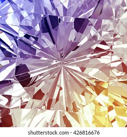 Diamond texture with colorful abstract, 3d illustration.