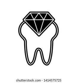 Diamond tooth icon. Element of Dantist for mobile concept and web apps icon. Glyph, flat icon for website design and development, app development