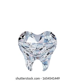 diamond within tooth shape with white background