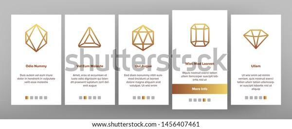 Diamonds Gems Onboarding Mobile App Page Stock Illustration