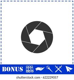 Diaphragm icon flat. Simple illustration symbol and bonus pictogram