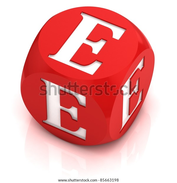 dice font letter E