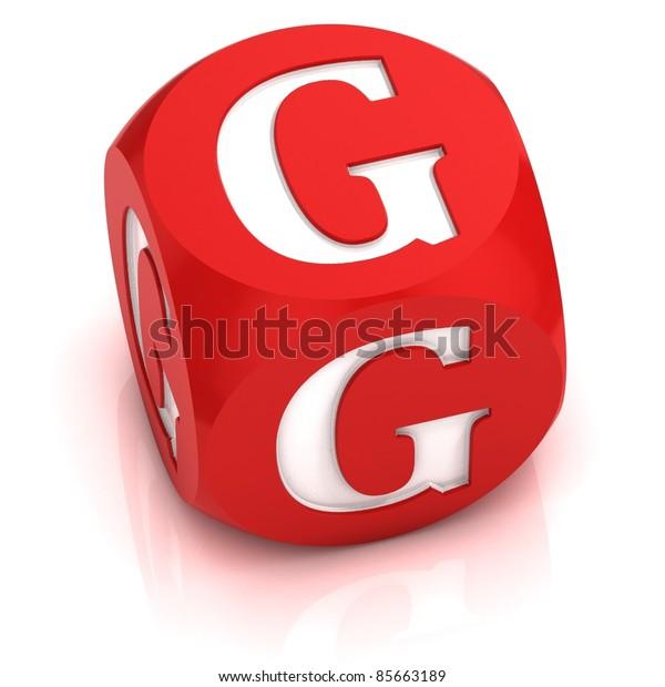 dice font letter G