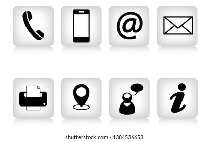 Dice icons with contacts and communication symbols