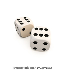 dice isolated on white background 3d illustration