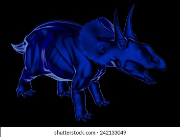 Diceratops in blue