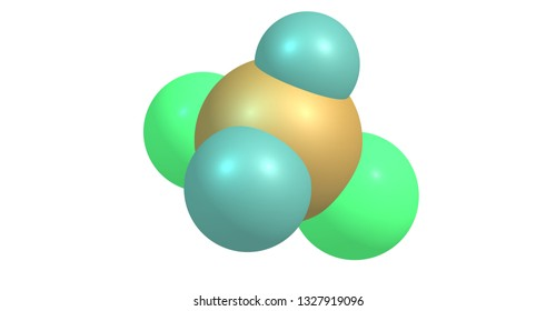 Dichloromethane or DCM or methylene chloride is a geminal organic compound with the formula CH2Cl2. 3d illustration