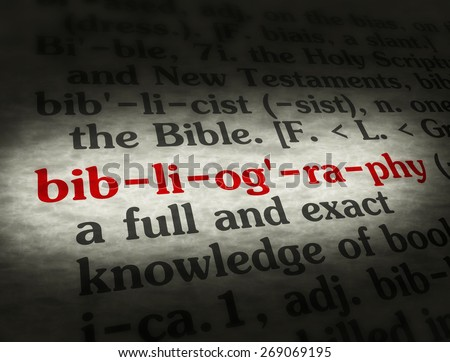 what does the word bibliography mean