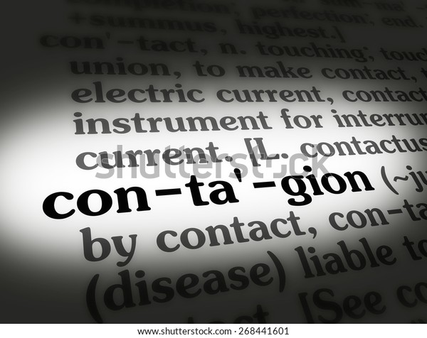 Dictionary Definition Word Contagion Stock Illustration 268441601