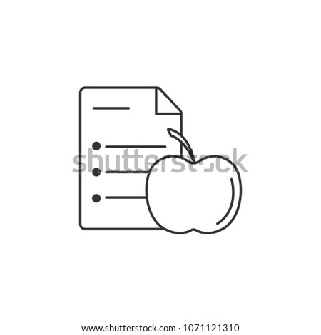 diet chart icon simple element illustration stock illustration