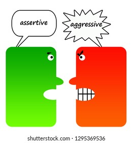 Difference being constructive/assertive and aggressive