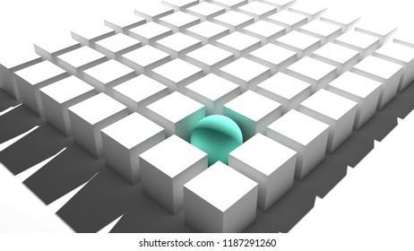 different thinking concept ,3D illustration