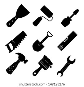 Different tools icon  illustration set1