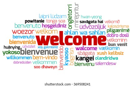 Different Welcome Other Language