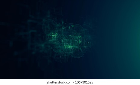 Digital Abstract Background, Cryptocurrency Concept made in computer graphics.