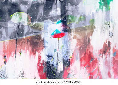Digital abstract color painting for background