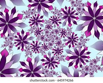 Digital abstract . Fractal geometric spirals.