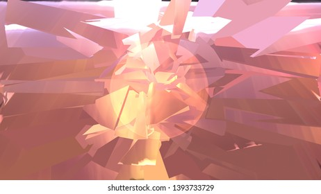 Digital Abstract Shattered traingles background