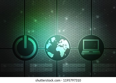 Digital Abstract technology background, 3d rendering