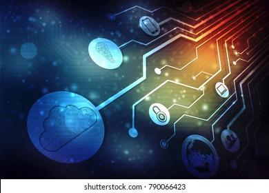 Digital Abstract technology background, cloud computing concept