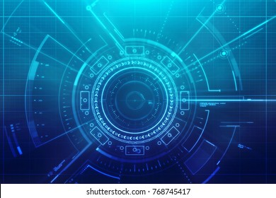 Digital Abstract technology background, Cyberspace Background, Virtual Technology background