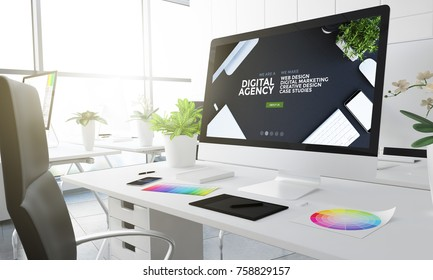 digital agency design studio 3d rendering