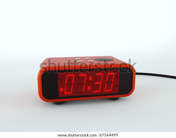 digital alarm clock isolated on white background