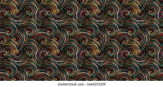 Digital allover design for textile printing