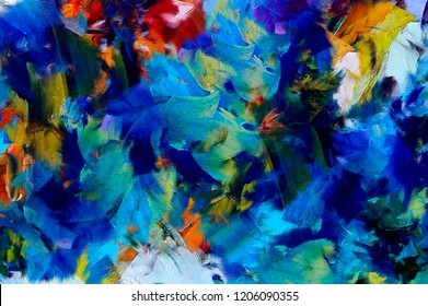 Drowning Blue Water Bubble Abstract Canvas Print Painting Home Decor Wall Art
