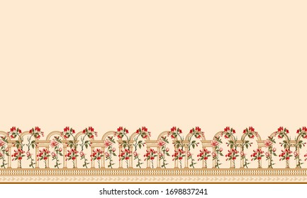 Digital Beautiful Sleave Designs Shirt and Digital Floral Designs and seamless Border