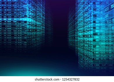 Digital binary code matrix background in graphic concept , suitable for technology background or financial complex data