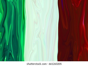 Digital blurred tricolor background from vertical stripes with spread liquify flow looks like the flag of France for design
