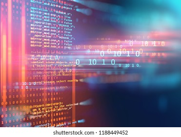 digital code number abstract background, represent  coding technology and programming languages.