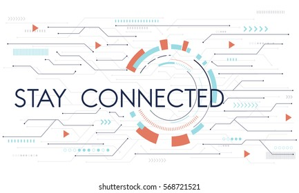 Digital Community Stay Connected Icon